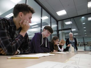 Students at the Keep searching WW1 coroner reportsjpeg