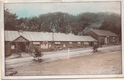 YMCA hut in Shoreham Camp Courtesy of Graham Booth