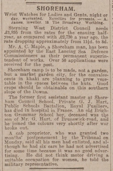 West Sussex Gazette_23.3.1916