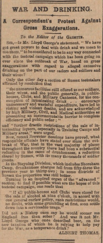 Worthing Gazette_10.3.1915