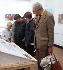 Visitors on the open day explore the exhibits.