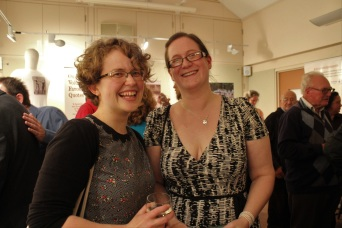 Caroline George (left) from the Heritage Lottery Fund and Gail Mackintosh, Project Coordinator.
